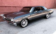1967 Chevrolet Chevelle SS 454 Pro Touring grey budnik gasser wheels