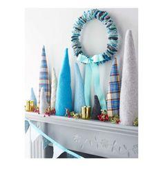 Christmas Blue Tree Display from Wise Craft  via Craft Gossip