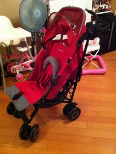 Almost Brand New Maclaren Stroller - Suitable for newborns and up. Everything including the wheels are in tip top condition. Looks as good as new. Stroller comes with rain jacket as well.  Original Price - $2400 Hkd Selling Price - $1500 Hkd   (Loving this stylish stroller | Amazing functionality)