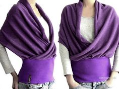 Wrap Scarf Sweater... Would love something like it for cool summer days & evenings.