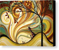 Out West Original Madart Painting Canvas Print by Megan Duncanson. All canvas prints are professionally printed, assembled, and shipped within 3 - 4 business days and delivered ready-to-hang on your wall. Choose from multiple print sizes, border colors, and canvas materials.