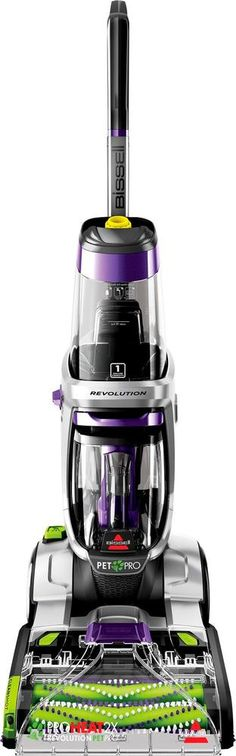 BISSELL - ProHeat 2X Revolution Pet Pro Upright Deep Cleaner - Silver/purple