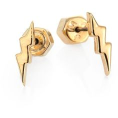 Marc by Marc Jacobs Lightning Bolt Stud Earrings ($34) ❤ liked on Polyvore