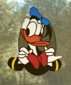 Donald Duck stained glass