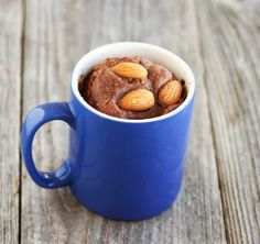 Chocolate Almond Mug Cake | Kirbie's Cravings | A San Diego food blog
