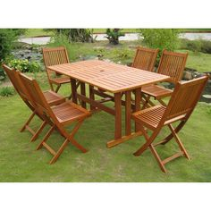 International Caravan RE-07-VN-128-6CH Royal Tahiti Zamora 7-Piece Dining Group in Stain