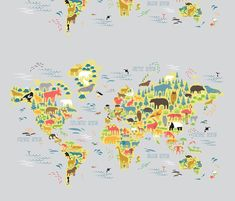 Animals+of+the+world+fabric+by+sary+on+Spoonflower+-+custom+fabric