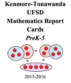 Eureka Math report cards developed by Kenmore-Tonawanda UFSD (PreK-5)