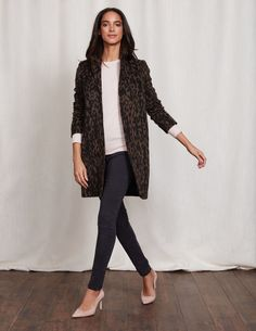 Sally Leopard Coat WE577 Clothing at Boden