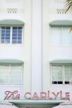 The Carlyle Hotel. Art Deco. SoBe. South Beach. Miami Beach. Florida.