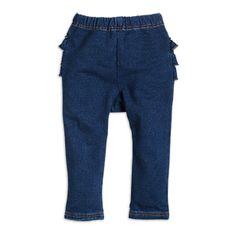 Kalhoty s volány  Modrá