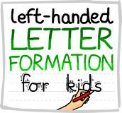 Left handed letter formation guide and resources.