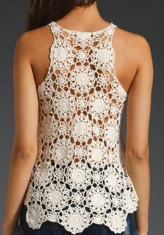 Outstanding Crochet: Halter Top from Eternal Sunshine. I would like to make a vest out of this.