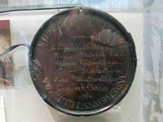 Museum Display. Prisoners who shared shelter, food, water and body heat increased their chances of survival. This etched canteen belonged to five Andersonville prisoners who ate in the same mess, a father and three sons named Shatswell and a fifth named George F. Noble. All survived their imprisonment.