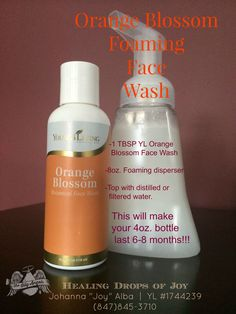 """YL OrangeBlossomFaceWash - Ahhh! My face is clean, refreshed & TotallyToxicFree!!! This gentle, soap-free facial wash cleanses the skin w/o stripping natural oils. It contains MSM for softening, kelp improves elasticity, Lavender, Patchouli, Rosemary &Lemon EOs to soothe acne prone & other skin issues. Interested? I can help you! Check out my FBgroup packed w/great info, amazing testimonies, recipes&ideas! search """"Healing Drops of Joy"""". Want to know how YL changed our life?Call Joy…"""