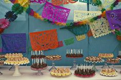 Mexican Candy Bar, will have a dessert bar with individual flan cups, fruit cups and the birthday cake
