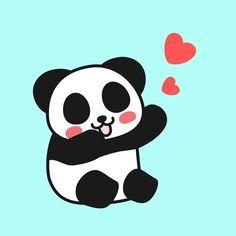 ❤️❤️ #heart #panda #pandakuma #love