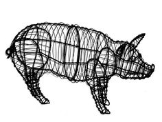 Pig+Animal+Topiary+Frame