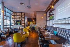 Melange Restaurant Crouch End serves rustic style Mediterranean food Rustic Restaurant, Restaurant Concept, Restaurant Interior Design, Cafe Interior, Restaurant Bar, Restaurant Interiors, London Cafe, Mediterranean Design, Italian Home
