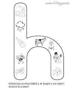 Játékos tanulás és kreativitás: Kisbetűkben képek a hangfelismerés gyakorlásához Dysgraphia, Aphasia, Letter Of The Week, Special Education, Preschool, Therapy, Language, Symbols, Letters