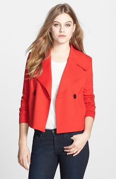 31d6f463cc5f82 Double Breasted Crop Jacket from Robbi  amp  Nikki Shop Nordstrom