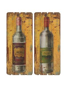 The Import Collection makes some great art, like these Distressed Syrah Wine Wood Plaques. The set of 2 makes a great gift for wine lover's to hang in their kitchen, dining room, or patio.
