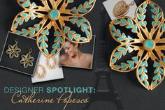 Catherine Popesco infuses her line with graceful floral forms and antiqued gold, creating a look that's as timeless as the City of Light itself.