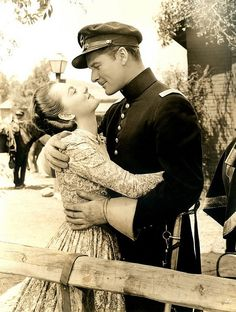 Errol Flynn and Olivia. I can forgive her for her swoon poses because who wouldn't have?
