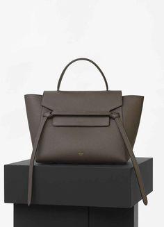 piel cinturón bolso becerro de marrón en Céline color Mini de topo oscuro qgpxWI