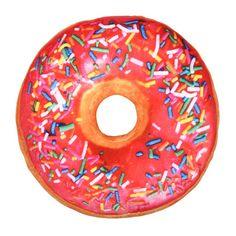 Donut kussen met roze glazuur en hagelslag