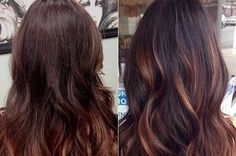 highlight hair black and purple red - Google Search
