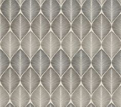 Leaf Fall (W6591-04) - Osborne & Little Wallpapers - An all over leaf silhouette design, in a formal layout with a variety of metallic colourings. Shown here in metallic silver and pale slate. Other colourways are available. Please request a sample for a true colour match. Wide width.