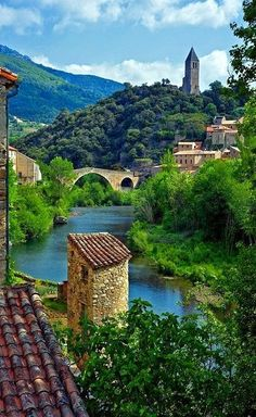The Village of Olargues ~ Hérault, Languedoc-Roussillon, France