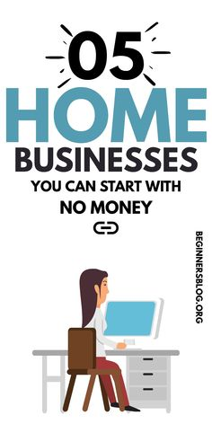 5 Lesser Known Home Businesses You Can Start With No Money. Best Business To Start, Own Business Ideas, Home Based Business, Online Business, Earn Money From Home, Way To Make Money, Make Money Online, Work From Home Jobs, Online Jobs