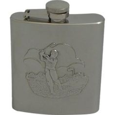 Stainless Steel Golfing Golf Golfer Flask -8oz by PFS108G-166. $26.50. Great Gift Idea!. Stainless Steel Satin Finish Golfer Flask. Comes with funnel. 8oz Flask. This is a new Bey Berk Stainless Steel Flask Golfer 8 oz. It measures approximately 10 x 1.5 x 12 3.75 x .75 x 5.25 inches.