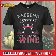 Weekend forecast... 100% Chance of Wine