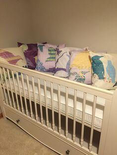 Shetland Starling Cushions   #shetland #starling #cushions #nursery #babycot #babyroom  #textiles