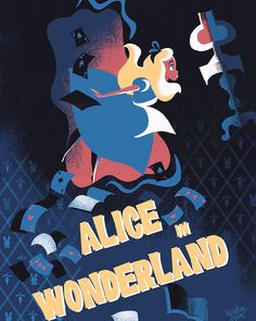 I'm back from my trip! See you tomorrow at #wonderground #wondergroundgallery at 11:00 am to 1:00pm #aliceinwonderland  #alice #alicia #aliciaenelpaisdelasmaravillas #poster #screenprinting #screenprint