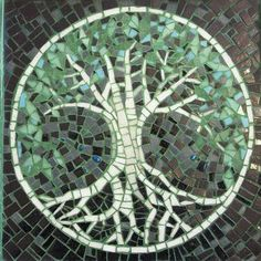 Tree of Life is a beautiful handmade glass mosaic mural sold ready to hang and look amazing. This piece has been created by a Ravenna-trained mosaic artist (this particular work was actually made in Ravenna. Italy - the acknowledged global capital of mosaic - itself). Materials: durable, hand-cut, grouted moasic glass tesserae, wooden frame Dimensions: 40cm x 40cm