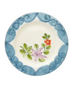 blue and violet plate #plate #floral