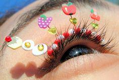 Fabulous and fruity eyelash jewelry! A summer look on your lashes! #beauty #eyelashes