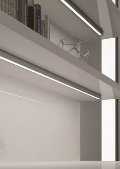 Twig from DOMUS Line is a surface mounted profile with symmetrical projection; ideal for under shelves and cabinet where recessing is not an option.