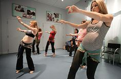 Belly Dancing While Pregnant - awesome prenatal fitness (and many belly dance fans have found it helpful in labor as well! Not to mention just all-around fun and empowering at every stage afterward. A great way to fall in love with you body!     / Colleen at WrapsodyBaby.com