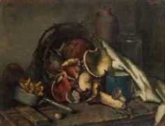 Still-Life with Mushrooms - Karl Truppe