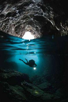 Blue Grott, Capri, en Italia