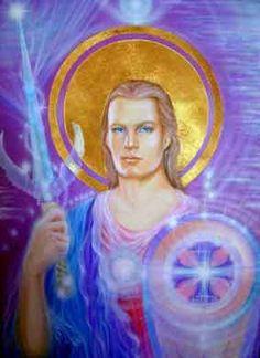 Archangel of the Violet Flame! Meditation Pictures, Aliens, Archangel Zadkiel, Justice League Comics, Esoteric Art, The Violet, Ascended Masters, Archangel Michael, Angels In Heaven