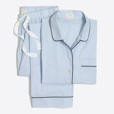 Shop J.Crew Factory for the Long-sleeve end-on-end cotton pajama set for Women. Find the best selection of Women Sleepwear & Loungewear available in-stores and online. Pajamas For Teens, Cute Pajamas, Pajamas Women, Comfy Pajamas, Satin Pyjama Set, Satin Pajamas, Pajama Set, Cotton Pyjamas, Sleepwear Women