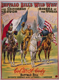 vintage Buffalo Bill's Wild West Show poster.