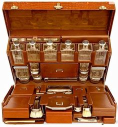 Hermes Travel Vanity Case, 1920's #ArtDeco #Vintage