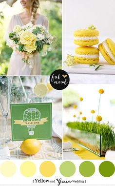 New palette Spring and Summer Wedding, yellow green wedding colors, Yellow green wedding motif,yellow green wedding ideas,Green and Yellow wedding theme Spring Color Palette, Spring Colors, Colour Palettes, Spring Wedding Colors, Green Wedding, Wedding Colours, Wedding Summer, Wedding Flowers, Wedding Fair